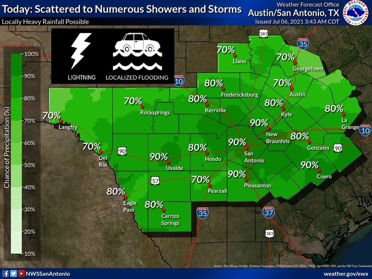 San Antonio is getting its fair share of rain, as is a great portion of Texas.