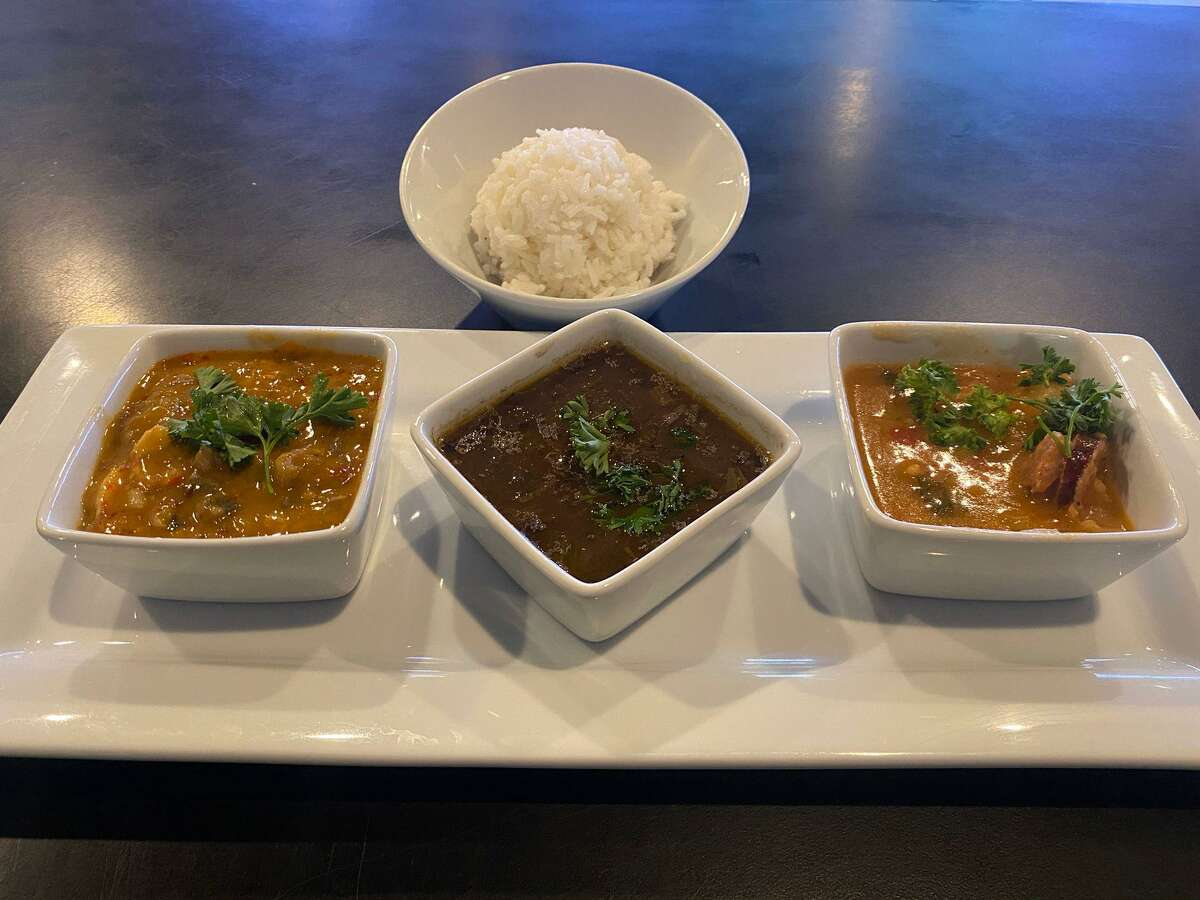 The restaurant menu includes items such as greens, brown-sugar sweet potatoes, red beans and rice and gumbos and stews.