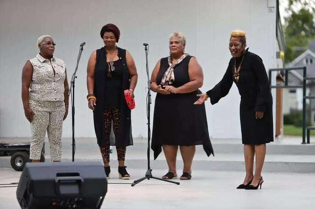 The Blancas Gospel Ensemble will be featured by the Alton Municipal Band at 8 p.m. Thursday, July 8, at the gazebo in Riverview Park as part of its Concerts in the Park summer series.