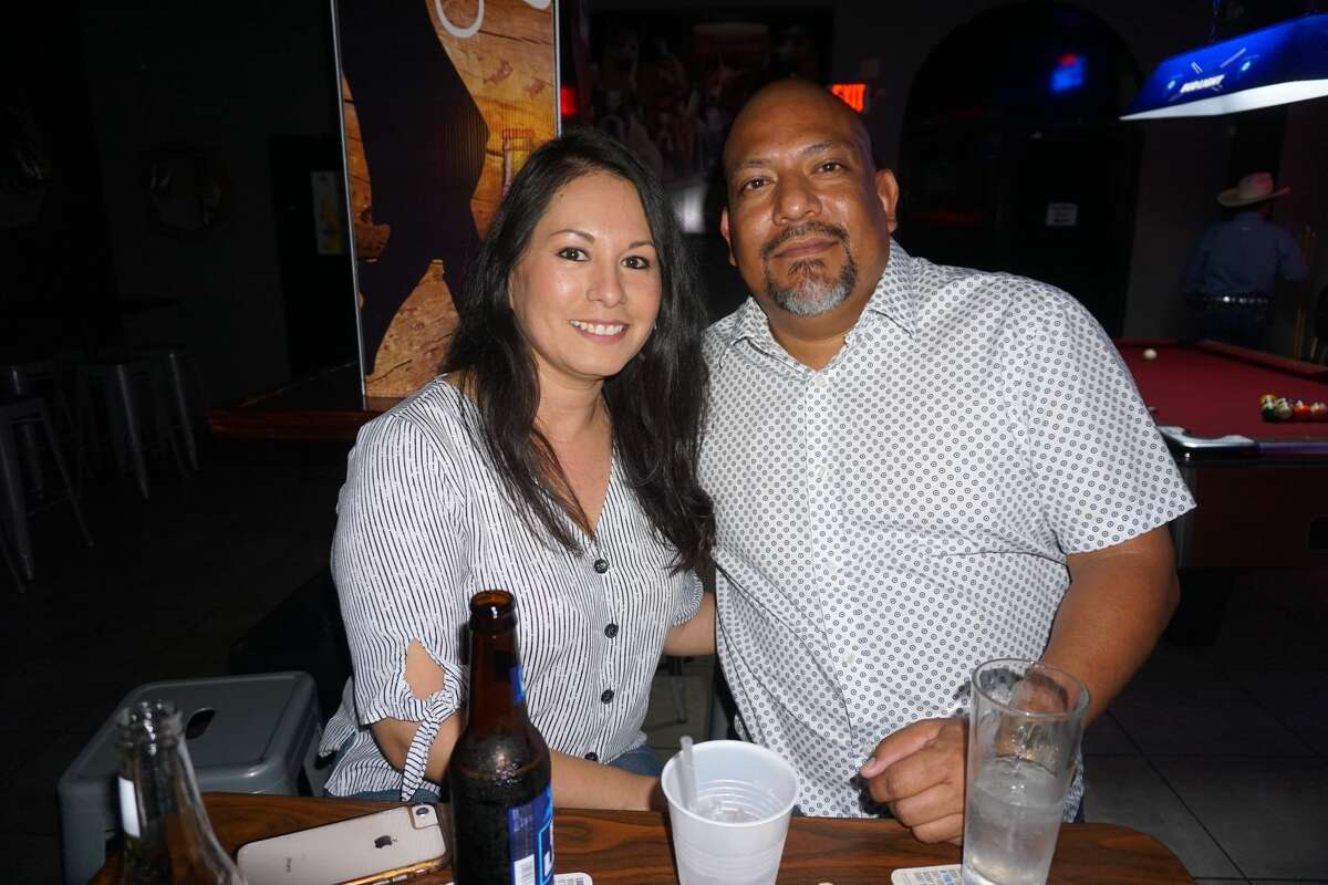 Luxandra Chavarria and Carney Longoria at Whispers.