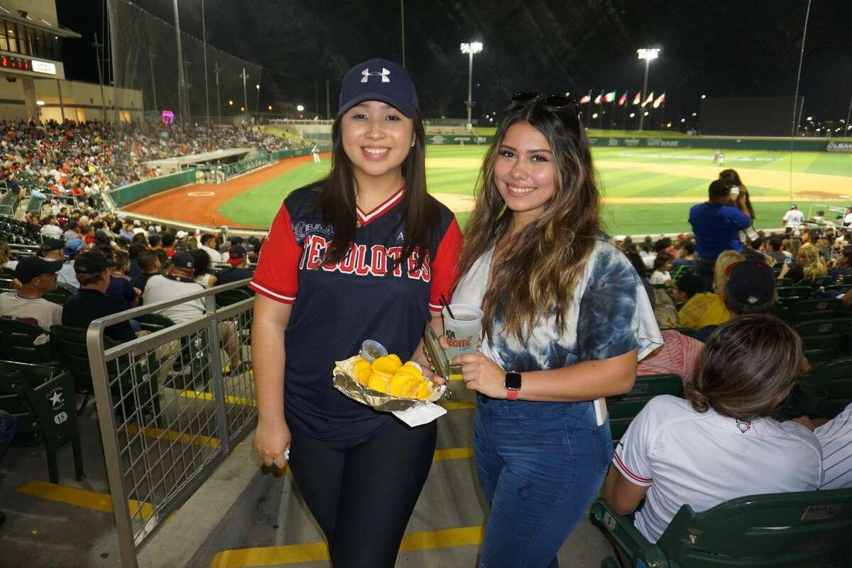 Key Najera and Ashley Cisneros at Uni-Trade Stadium.