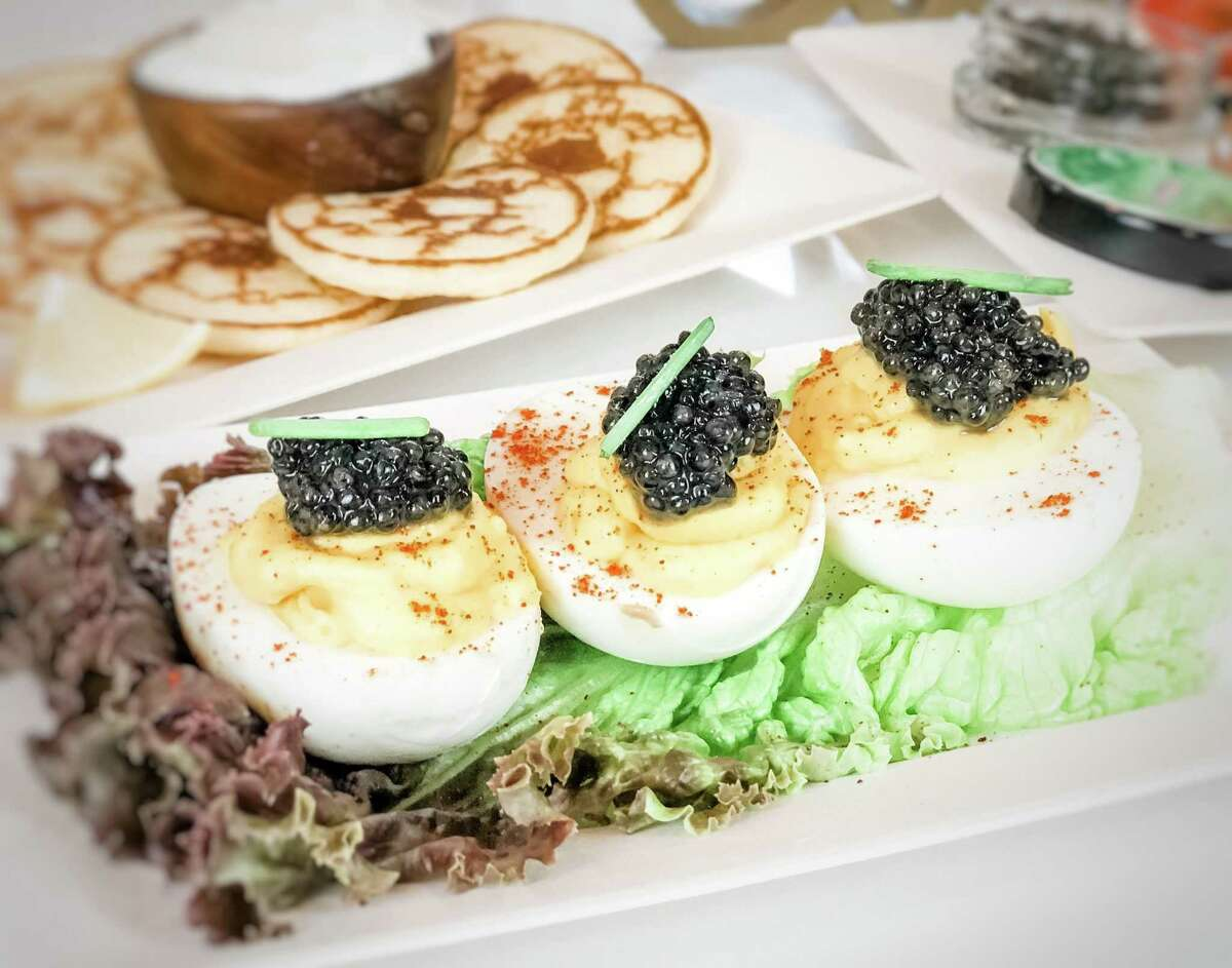 Deviled eggs topped with caviar will be on the menu at Tsar Nicoulai's upcoming cafe at the Ferry Building in San Francisco.