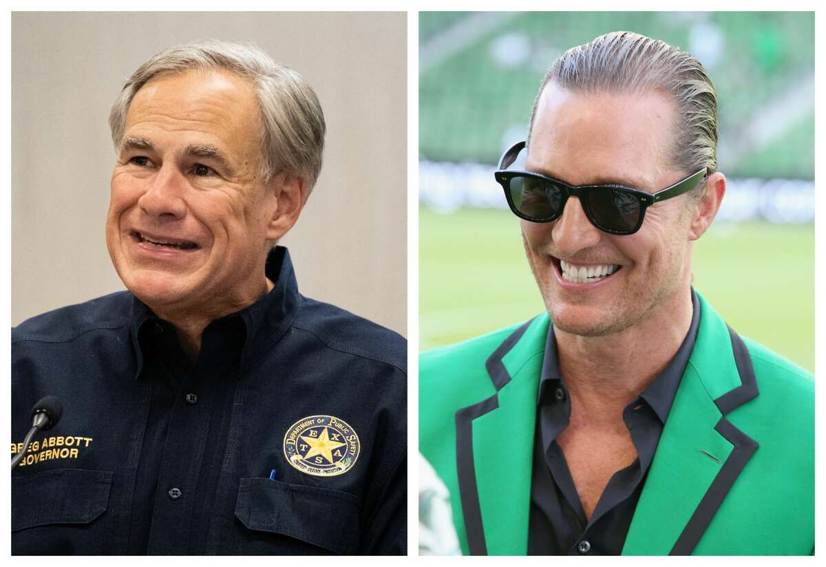 Abbott has the slightest of leads over McConaughey in a new poll.