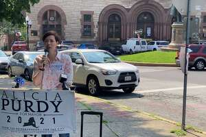 Republican mayoral candidate Alicia Purdy criticizes Mayor Kathy Sheehan's handling of gun violence in the city.
