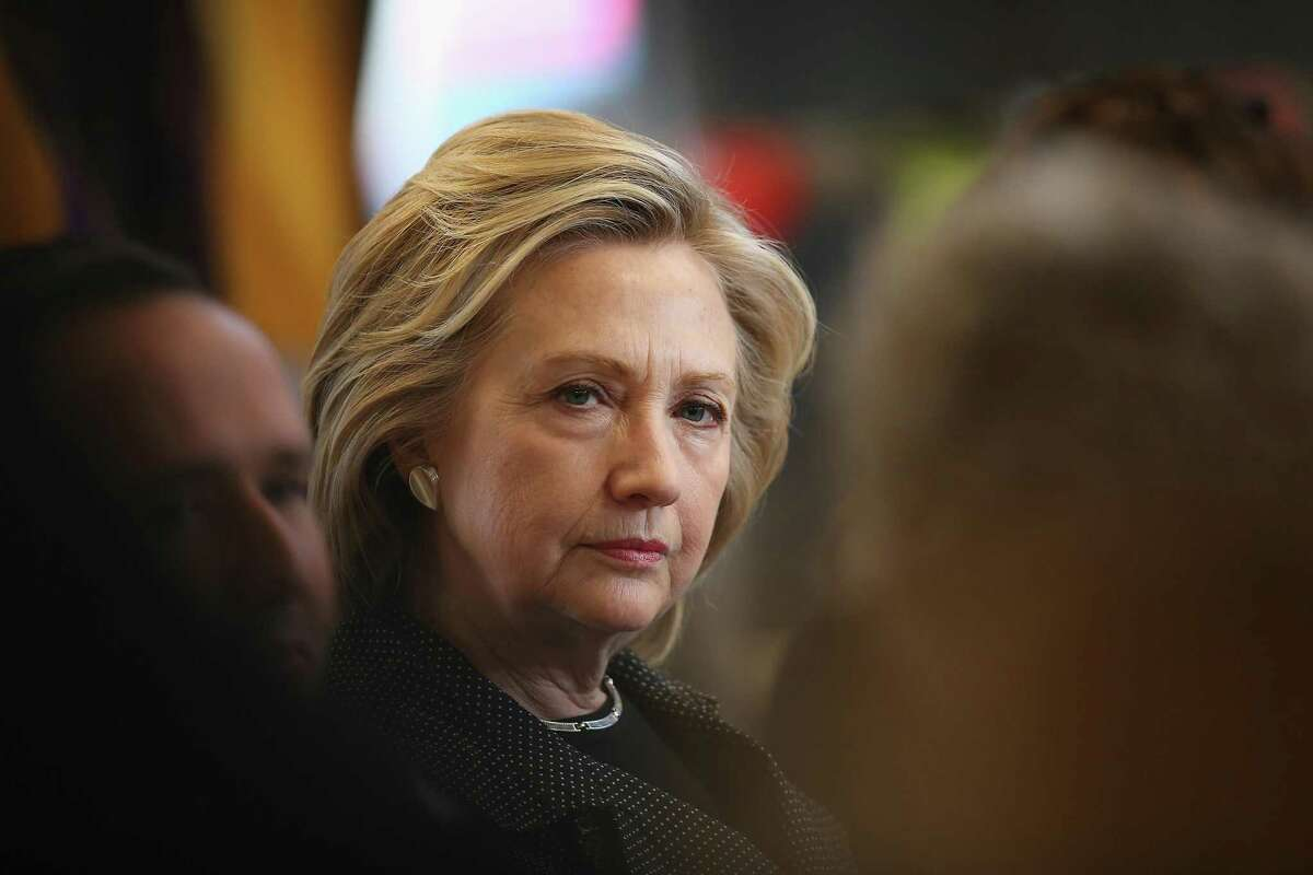 File photo. Former Secretary of State Hillary Clinton on May 19, 2015 in Cedar Falls, Iowa.