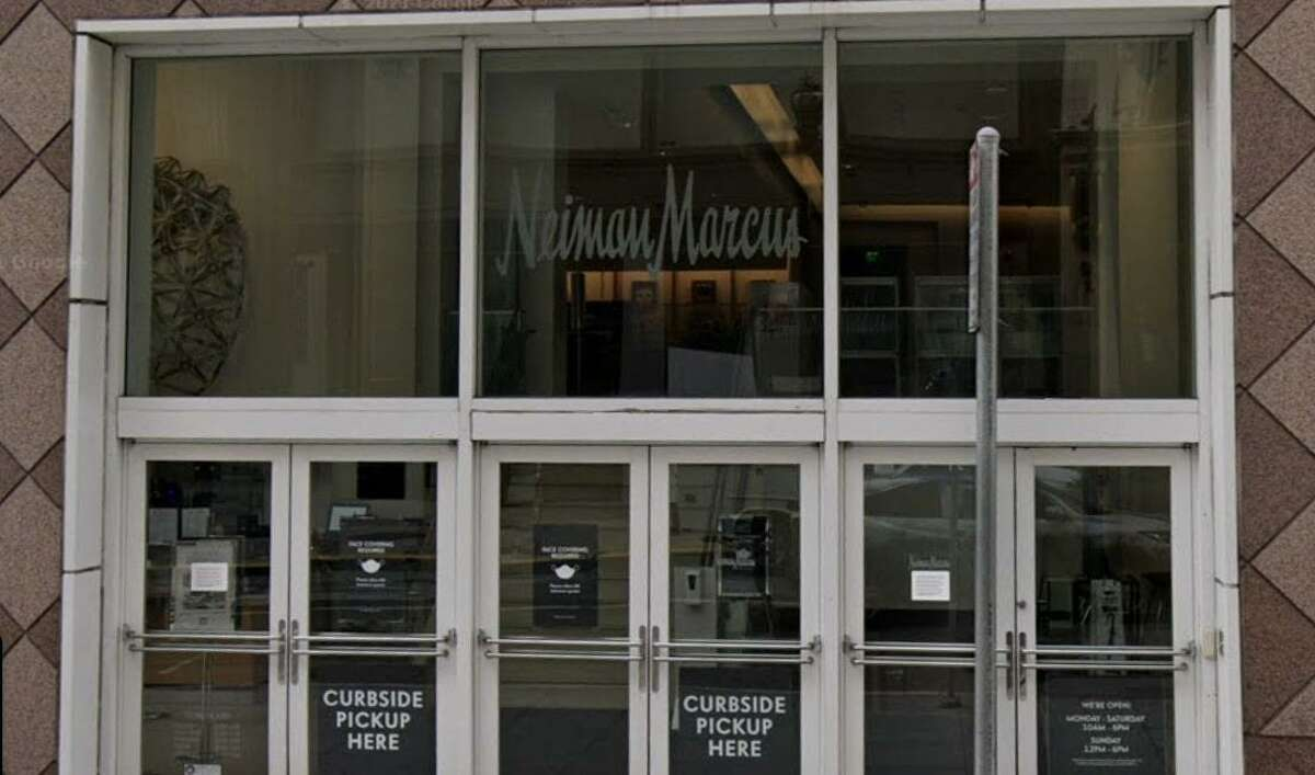 A Google Street View image of the Neiman Marcus store in San Francisco's Union Square. Multiple people allegedly stole merchandise from the store and fled in different vehicles Monday night.