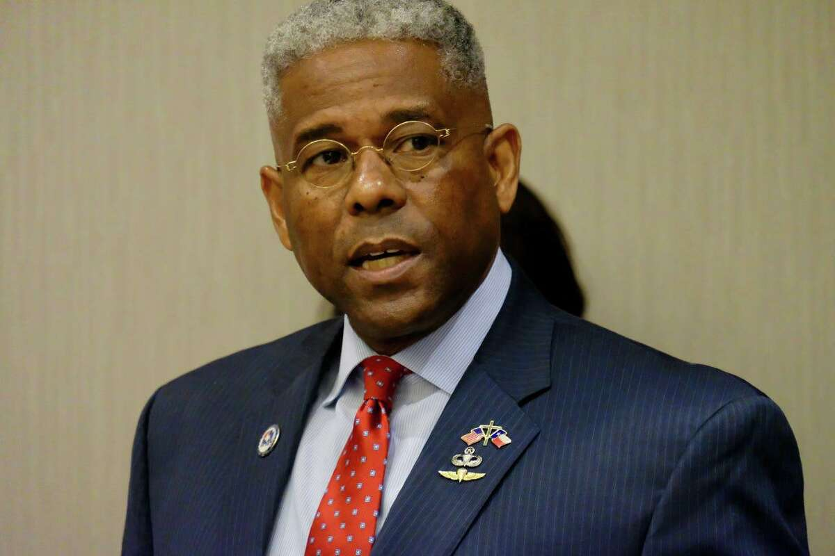 Allen West, a former Florida congressman and the outgoing chairman of the Republican Party of Texas, speaks at news conference in December 2020 in Georgetown. West announced on July 4, 2021 that he is running for governor, challenging incumbent Greg Abbott in the Republican primary.
