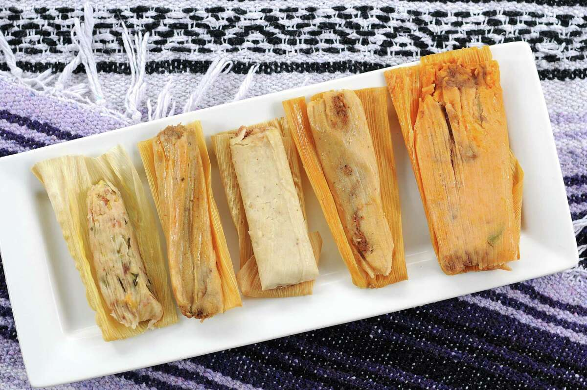 San Antonio has several places to find top-notch tamales that aren't the usual places you might go to get your fix of masa and meat. From left: Viva Vegeria, El Folklor Bakery, La Hacienda Products, La Bandera Molino and Bedoy's Bakery