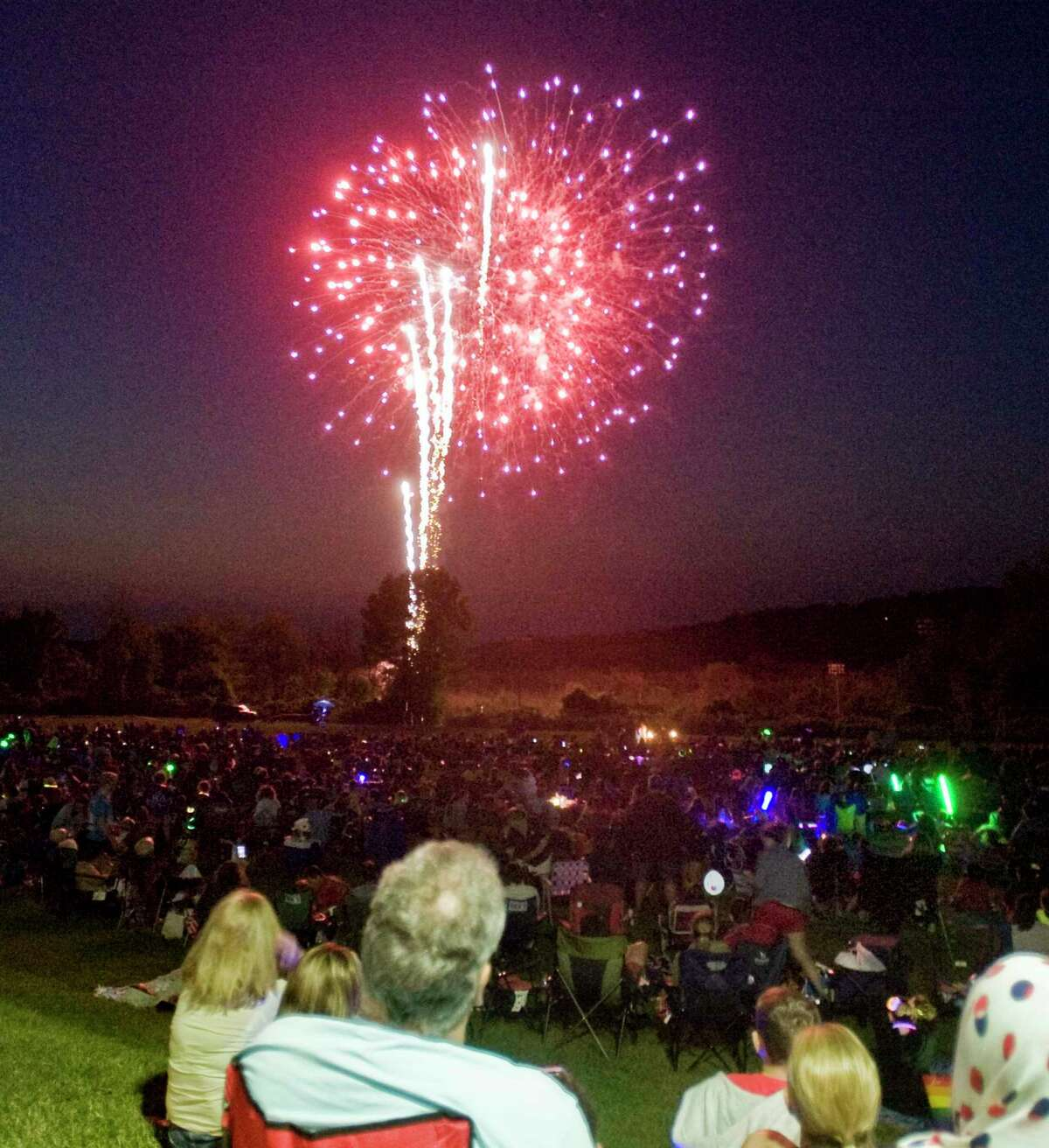 The town's annual fireworks display kicked off at Ridgefield High School's Tiger Hollow Stadium on July 5.