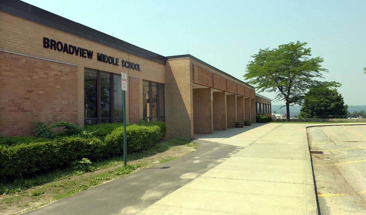 Broadview Middle School in Danbury is one of the buildings where solar panels are proposed.