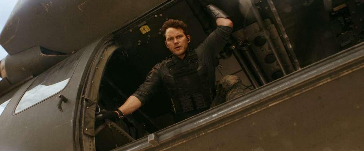 "Chris Pratt in ""The Tomorrow War."" (Courtesy of Amazon Studios/TNS)"