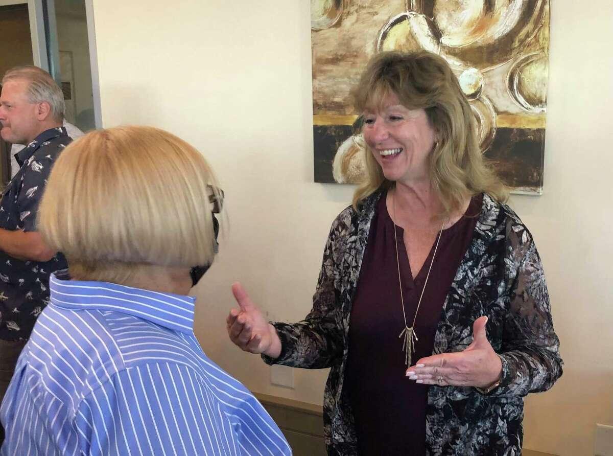 A file photo of Stratford Mayor Laura Hoydick at a 2021 fundraiser.