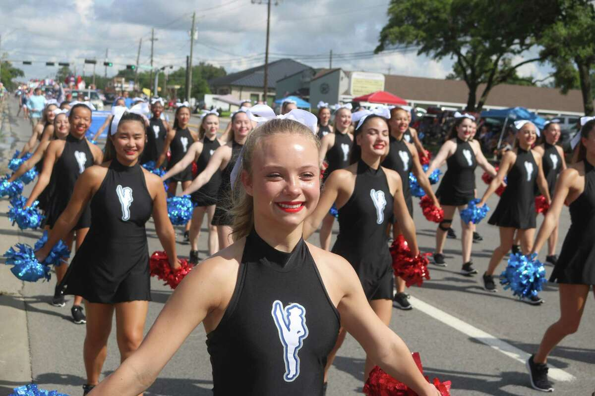 The Friendswood High School Wranglerettes added some kick to the city of Friendswood's parade on Monday celebrating the nation's birthday.