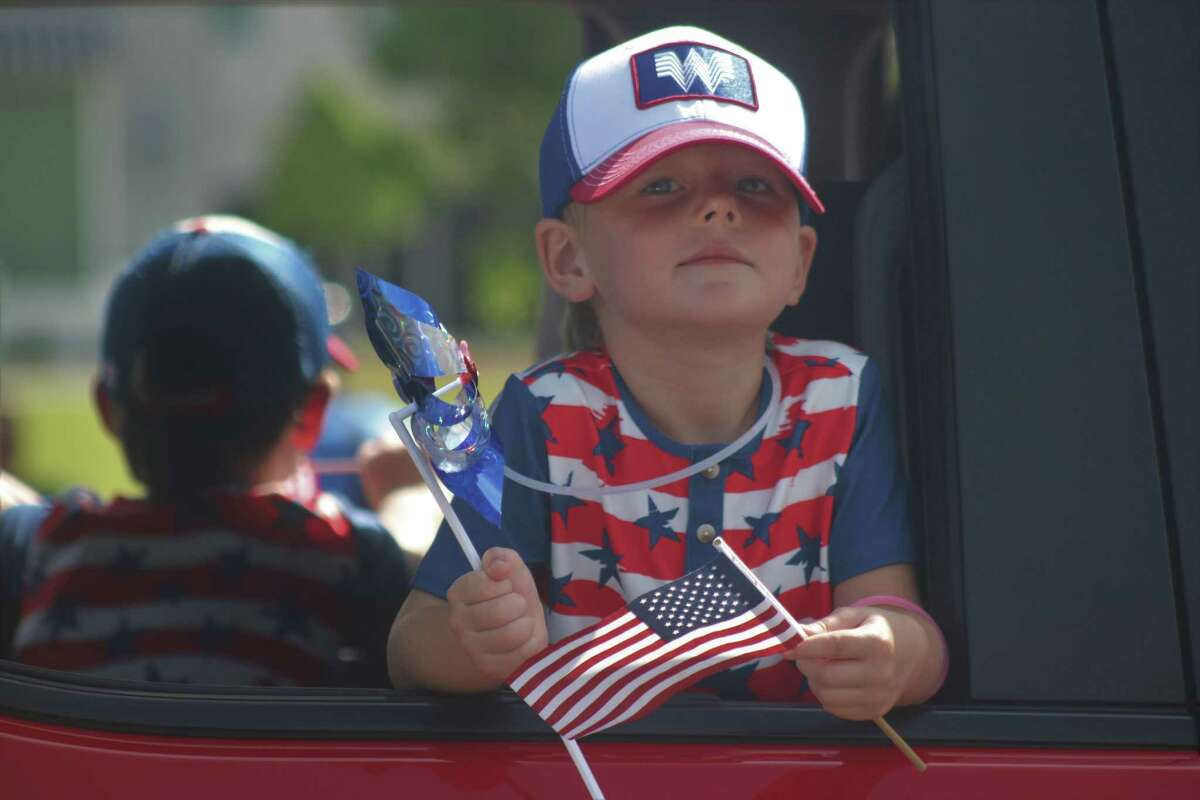 Children were decked out in red, white and blue.