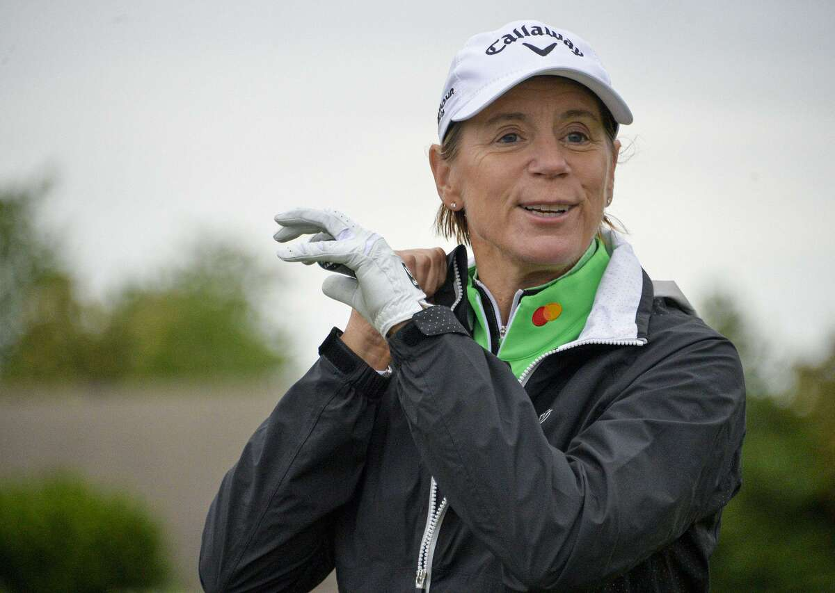 Former No.1 LPGA golfer Annika Sorenstam during a golf clinic at Hillendale Country Club in Phoenix, Md. in May.