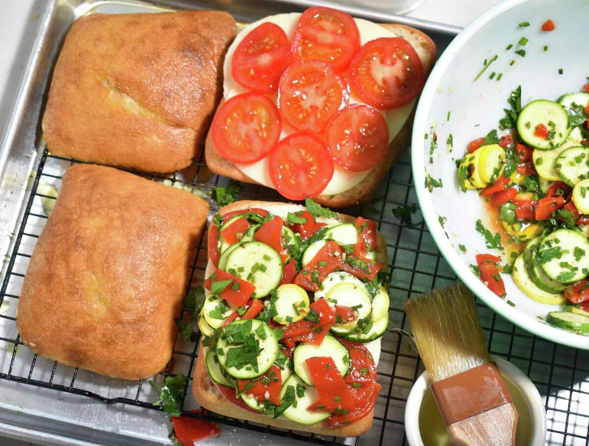 These sandwiches are like a cross between ratatouille and panini and perfect for summer.