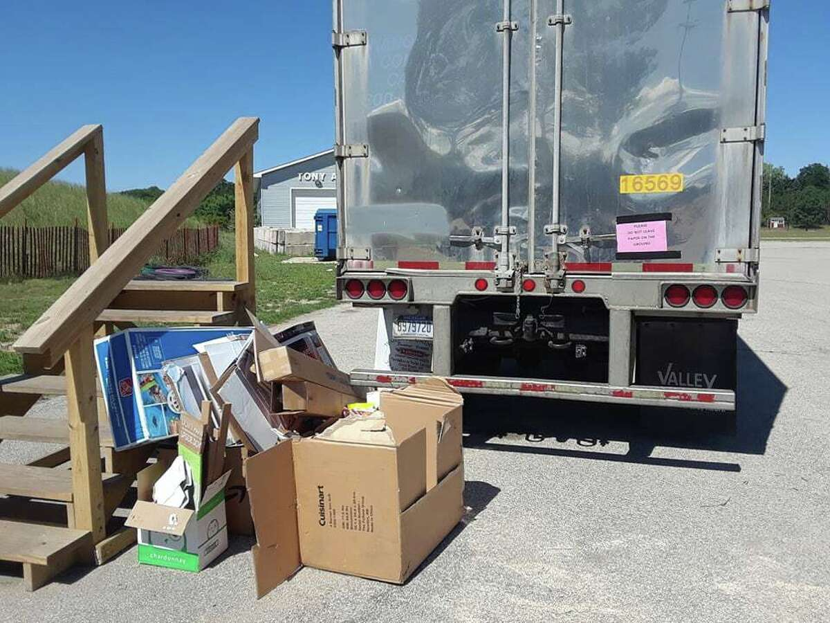 Manistee residents have reported frustrations about the recycling bin and cardboard trailer being full, and recycling center leaders have pointed out abuse of the site such as people dumping garbage and how some leave recyclables on the ground when the bins or trailers are full.