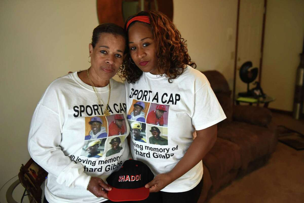 """Since the shooting death of Richárd 'Shaddi' Gibbs in 2011, his mother, Roslyn Stevens, left, and sister, Joyell Gibbs, honor his memory with """"sport a cap"""" day and share their family's story, advocating against gun violence in hopes of saving others from the pain they know."""