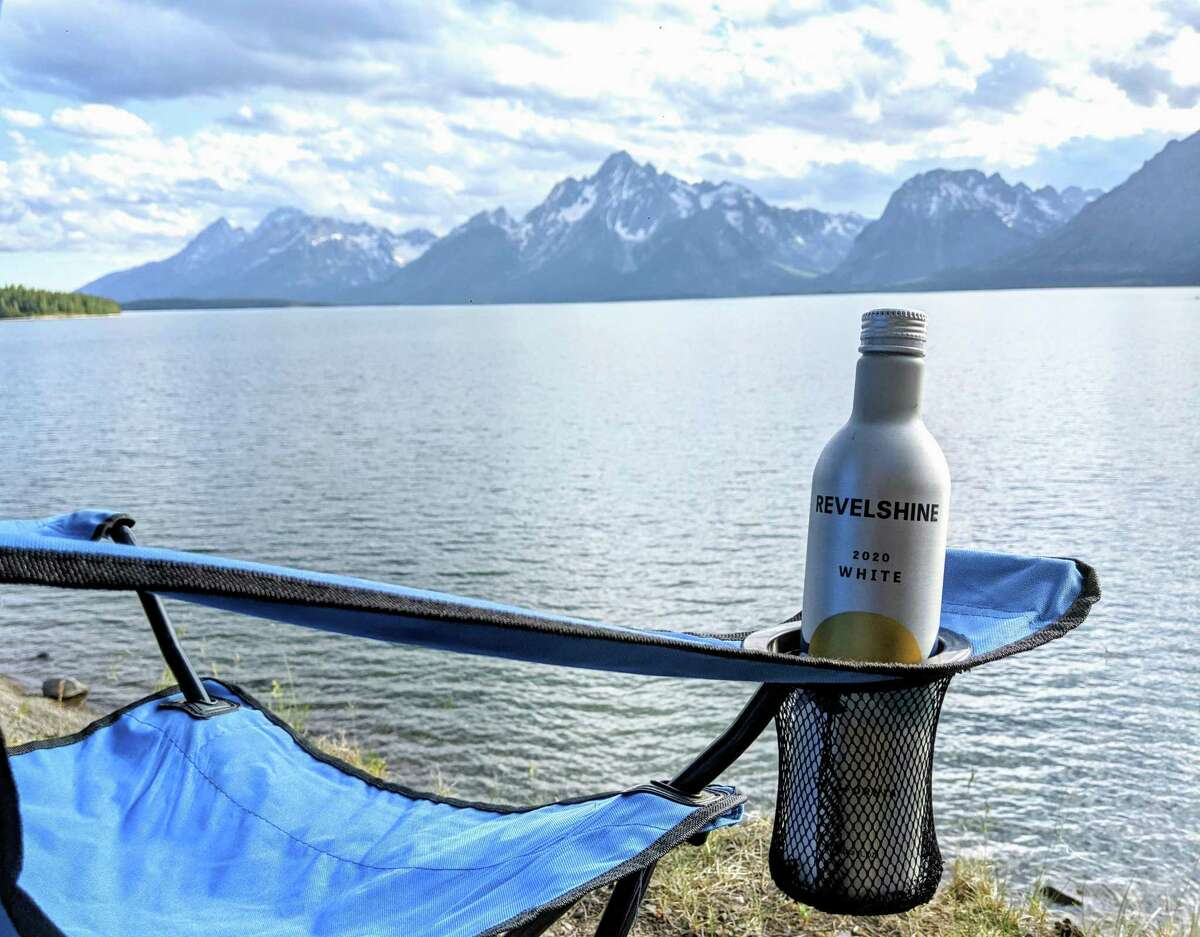 The Revelshine White, which critic Esther Mobley consumed while sitting by Jackson Lake in Grand Teton National Park.