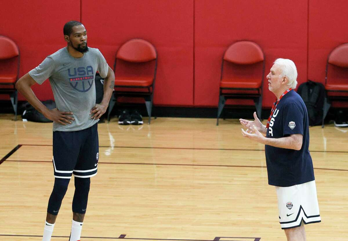 Gregg Popovich will be be blessed with a more talented roster in Tokyo - with the likes of superstar Kevin Durant - than he had for the 2018 FIBA World Cup.