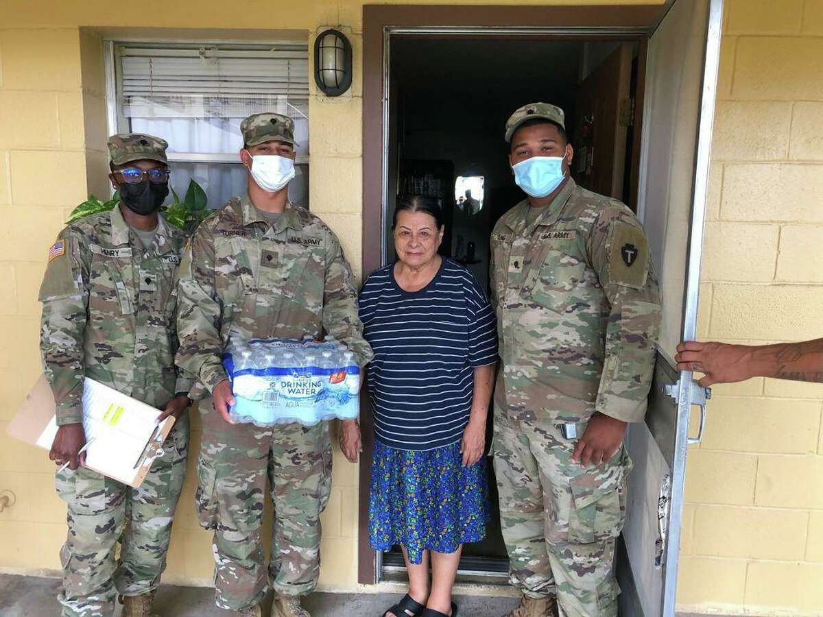 The National Guard visited seven senior apartment complexes in the past two days distributing water to residents.
