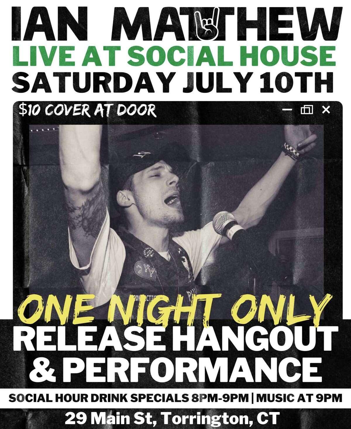Singer Ian Matthew is performing Saturday at Social House in Torrington.