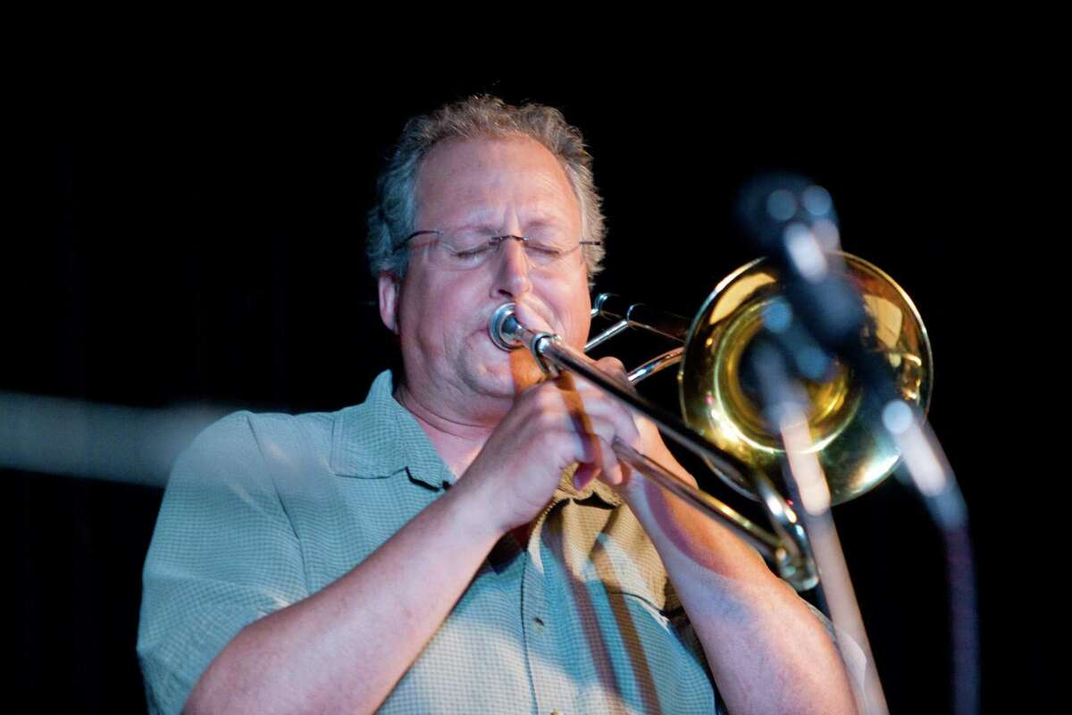 Peter McEachern, on trombone, will play at the Torrington Historical Society's outdoor concert series.