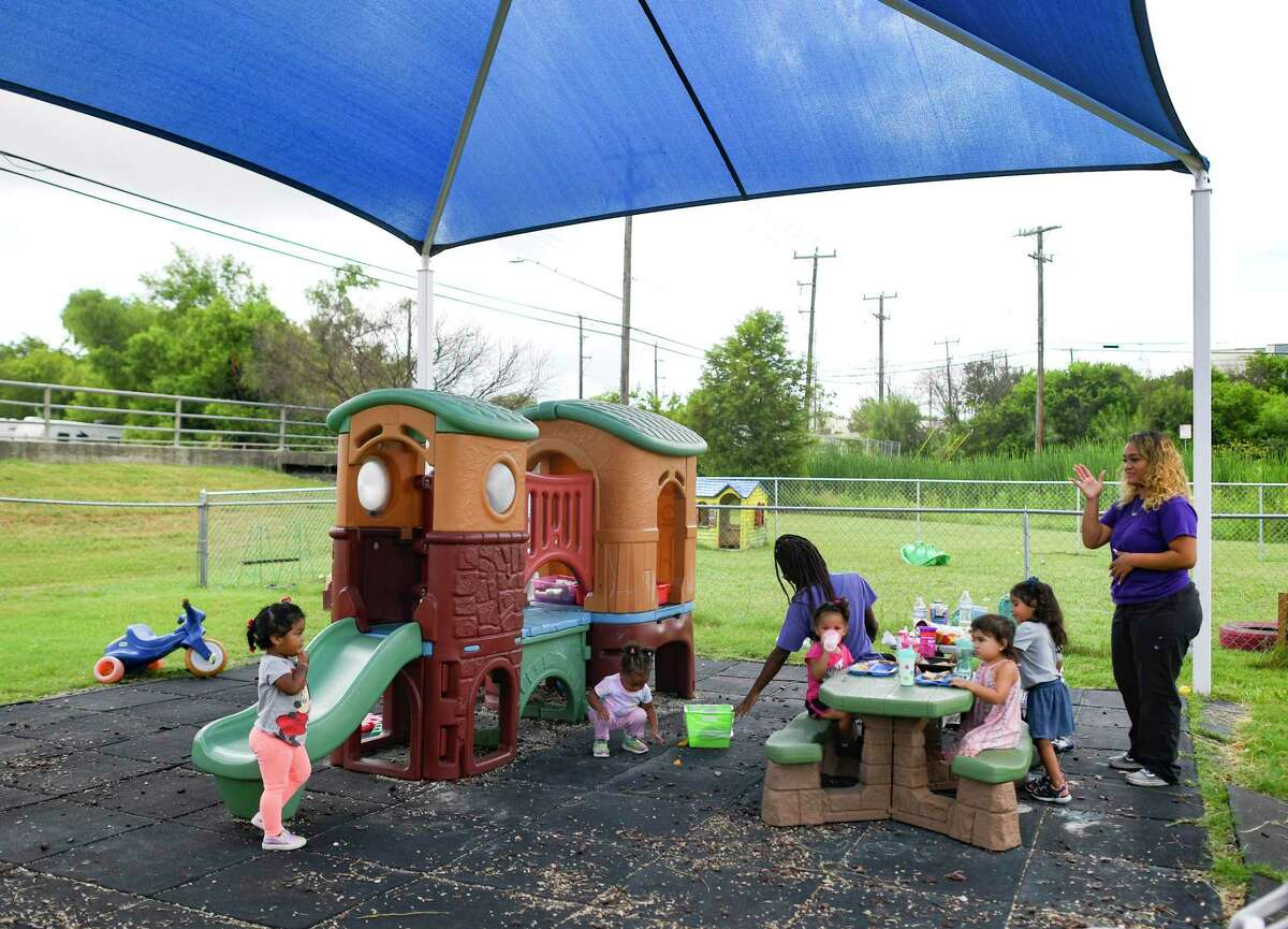 Children play at Bailey's Child Development Center on the Northeast Side on Thursday, July 1, 2021.