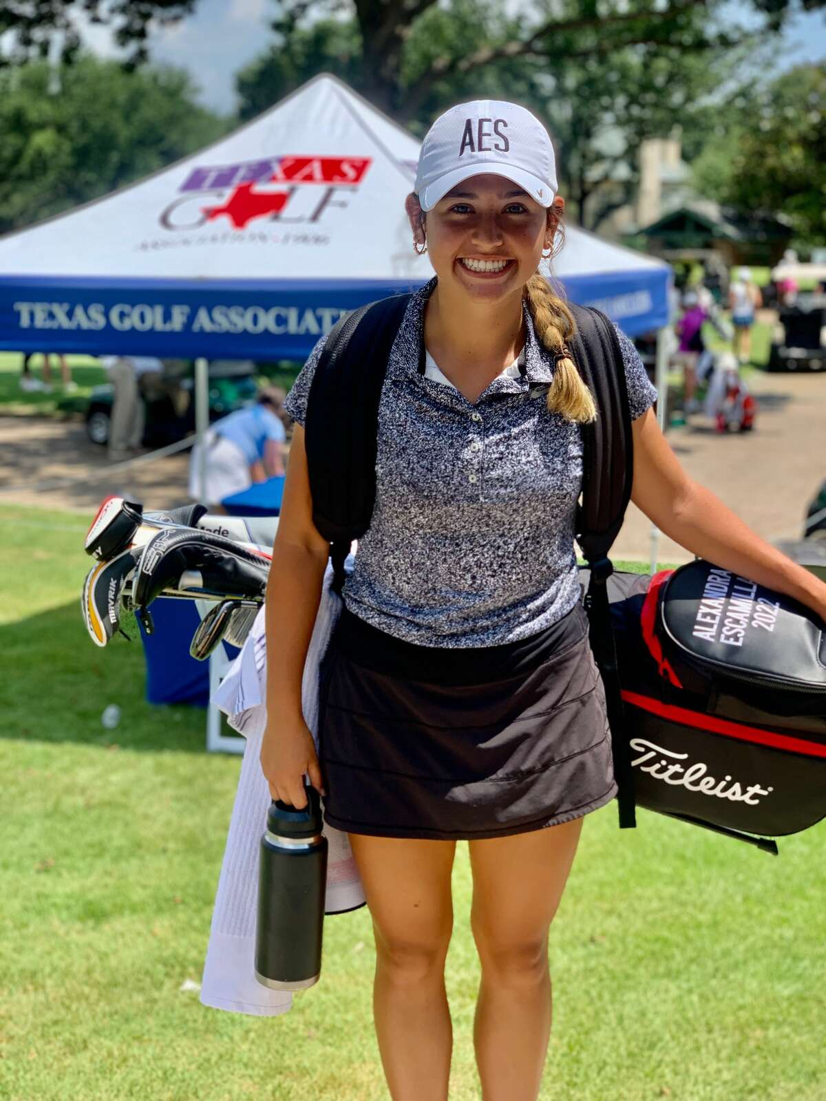 Trinity senior Ali Escamilla pictured at the Texas Golf Association's 100thWomen's Texas Amateur, July 6 at River Crest Country Club in Fort Worth.