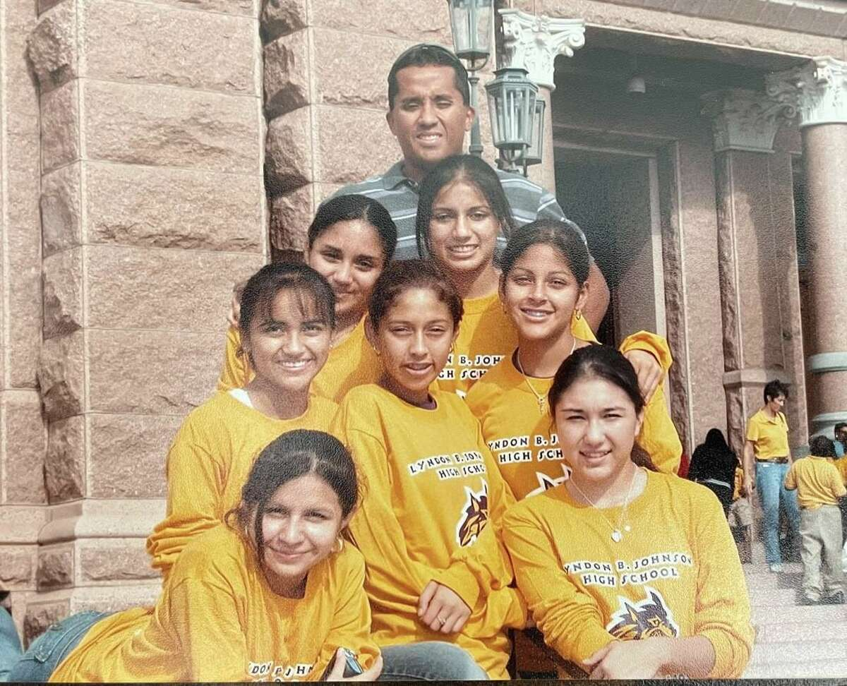 Manuel Gamboa led the LBJ girls' cross country team to the state meet in 2005.