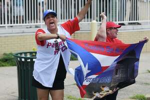 The annual Puerto Rican Day Parade on Park Avenue in Bridgeport, Conn. on Sunday, July 14, 2019.