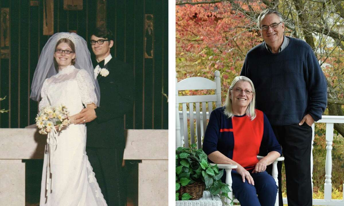 Ronald and Sharon (Vander Veer) Muszynski of Manisteewere married on July 17, 1971 at St. Simon's Catholic Church in Ludington. (Courtesy photos)
