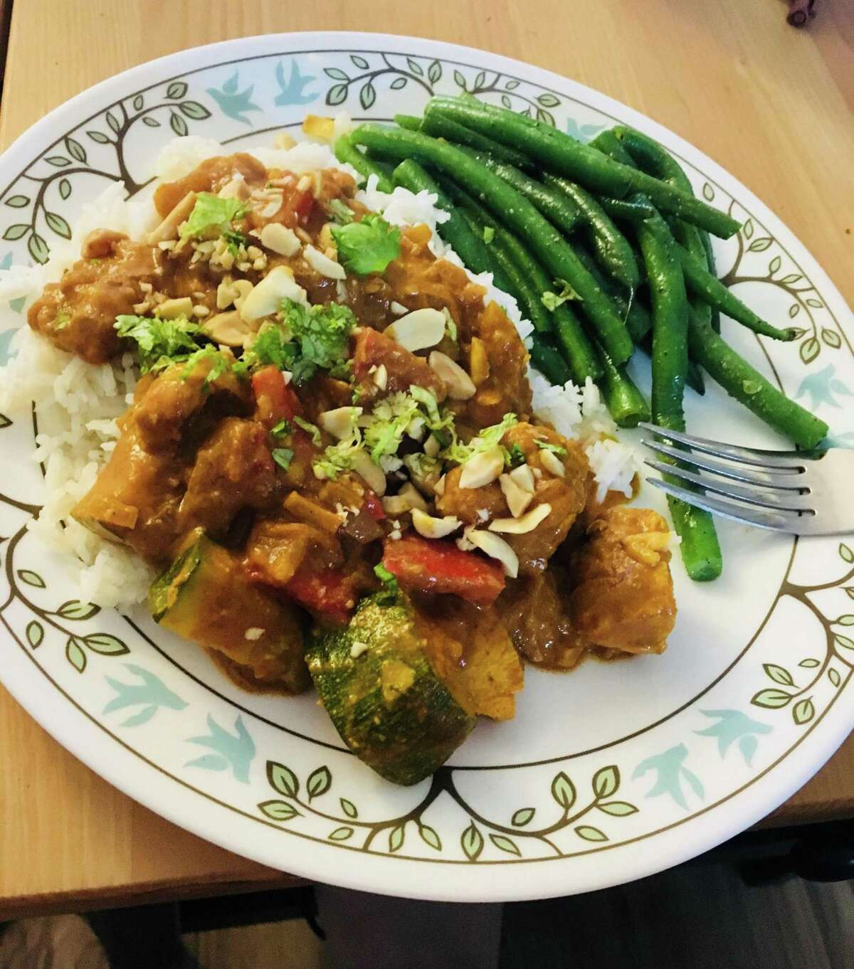 Chef John's Peanut Curry Chicken is a simple, spicy recipe using chicken thighs from Allrecipes.com.