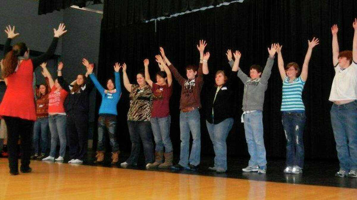 Laura Brigham leads a theater camp with kids. (Photo provided)