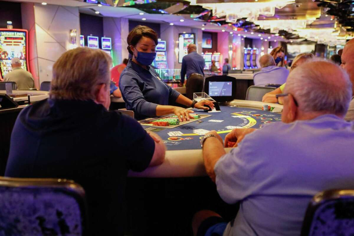 Casino games on Celebrity Edge, the first revenue-earning cruise ship to depart from the U.S. after the pandemic-induced hiatus.
