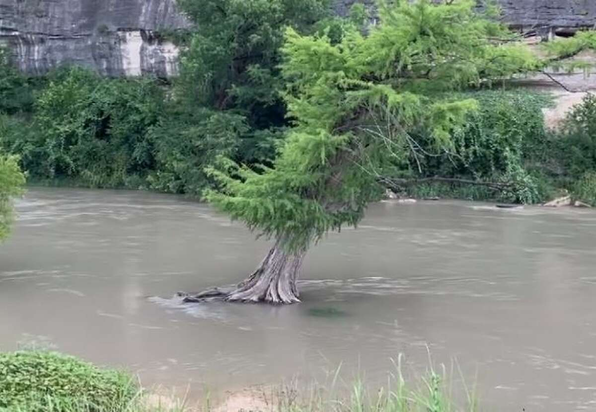 On Facebook Wednesday, the Guadalupe River State Park writes how it does not recommend for individuals to swim or tube at this time. The advisory comes after heavy rainfall caused the river's flow to reach about 700 cubic feet second.