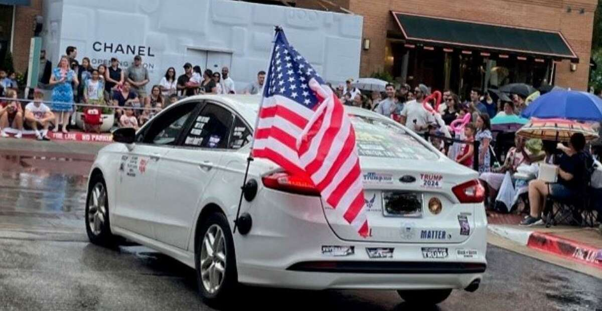 This unauthorized car appeared in the South County 4th of July Parade, leading to an outcry against the Veterans of Foreign Wars who were unknowingly stationed behind the vehicle.