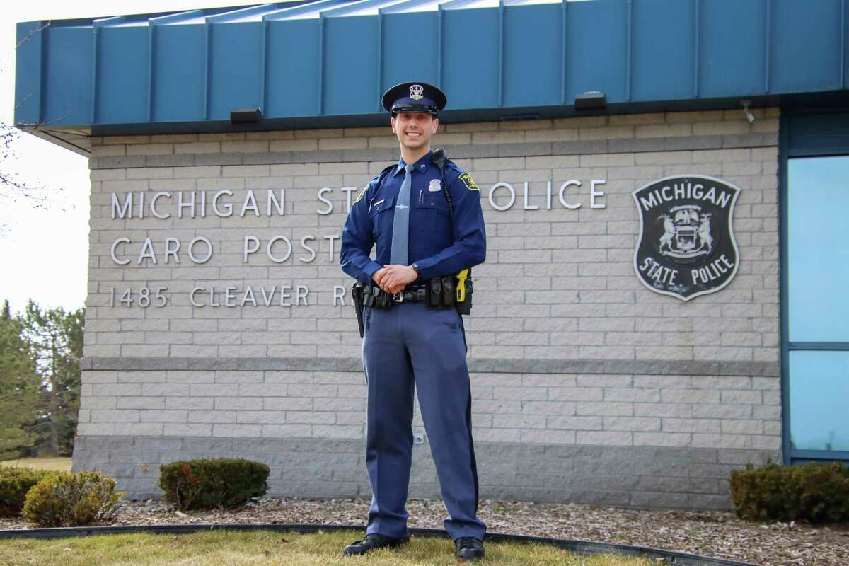 MSP Trooper Brayden Rich was the only trooper from the 138th Trooper Recruit School to join the Caro post. (Scott Nunn/Tribune File Photo)