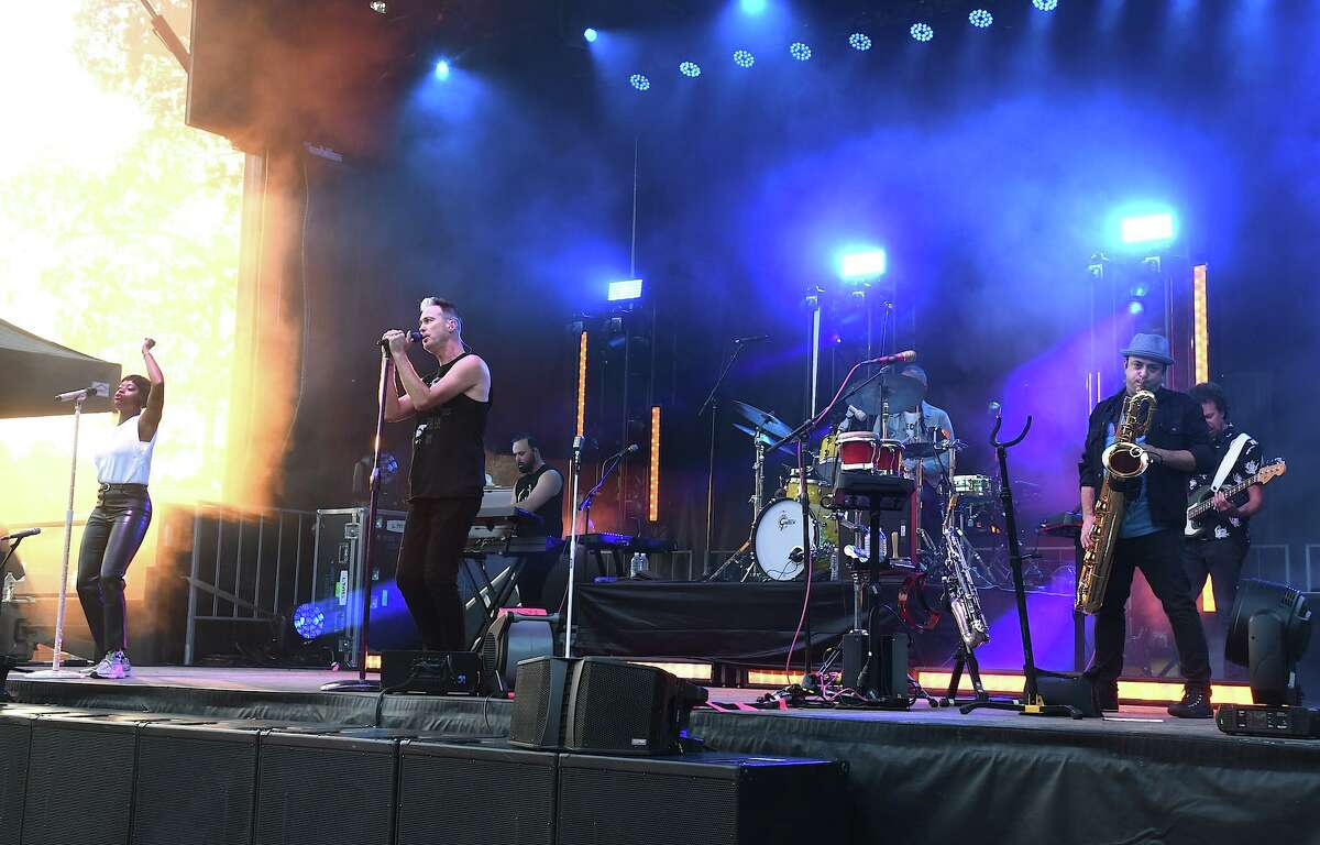 Multi-platinum pop group Fitz and The Tantrums stopped by The Ridgefield Playhouse on July 5 to play for a socially-distanced crowd of 500 fans. The concert was held on Ciuccoli Field.