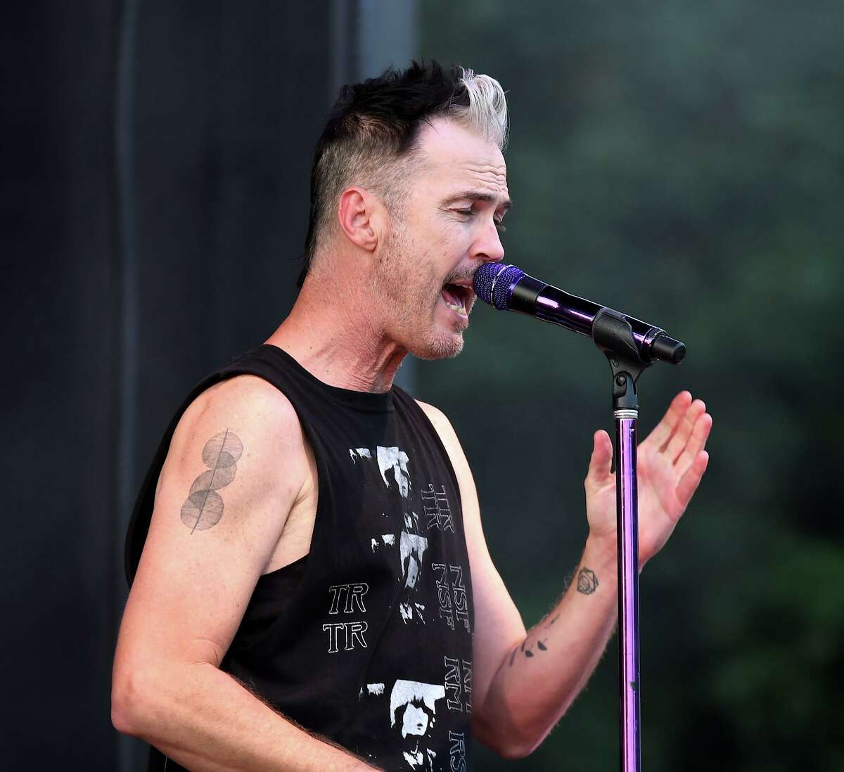 Lead vocalist Michael Fitzpatrick wowed the crowd at Ciuccoli Field during Fitz and The Tantrums' July 5 show at The Ridgefield Playhouse.