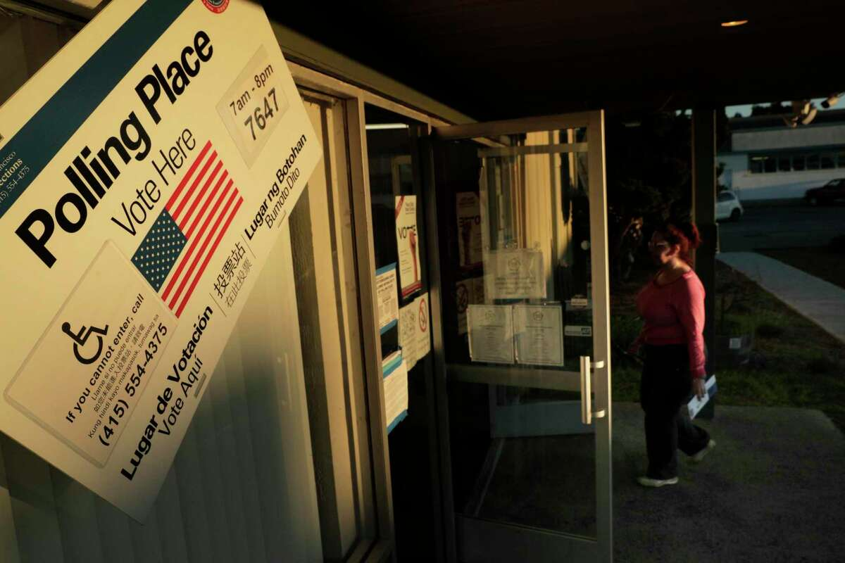 A voter arrives to cast a ballot at the Shipshape Community Center, Treasure Island's only polling location, in San Francisco, Calif., on Tuesday, November 6, 2018. The city of Richmond plans to explore allowing undocumented immigrants to vote in local elections.