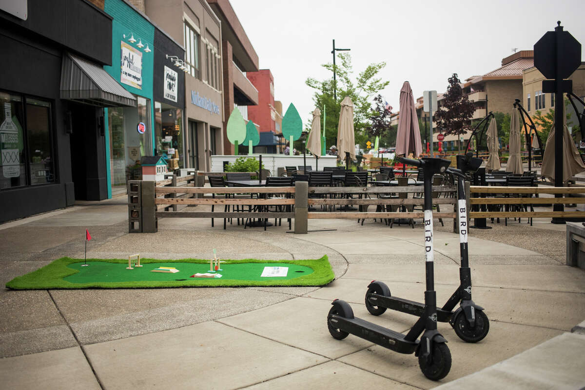 The Midland Downtown Business Association invites visitors to tee off downtown for Mini Golf on Main, happening July 7-17. This free event allows guests of all ages to test their skills at putting greens located throughout Downtown Midland. (Katy Kildee/kkildee@mdn.net)