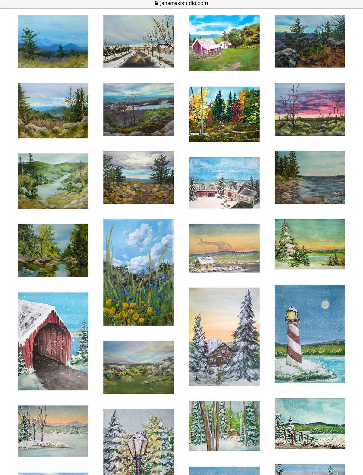 Landscape painting collection by artist Jena Maki.