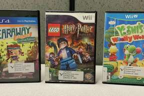 """For Wii consoles, """"Lego Harry Potter, Years 5-7"""" (Wii) allows the player to experience Hogwarts, use magic and encounter the Dark Lord. Using the Wii U, young gamers will have fun with Yoshi using yarn to create play spaces and find hidden areas in """"Yoshi's Woolly World"""" (Wii U). (Courtesy photo)"""