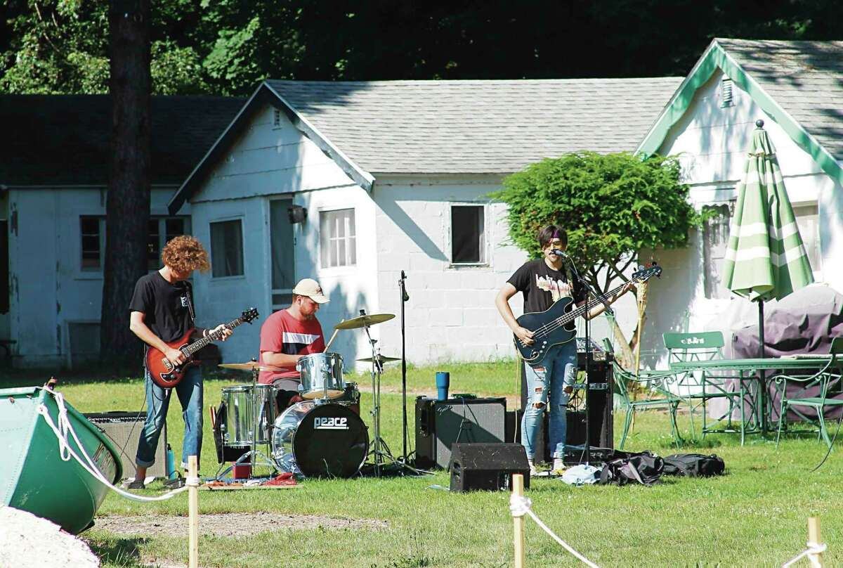 Local bands were featured at the Onekama Block Party in 2019. This year's event will take place on July 8. (File photo)