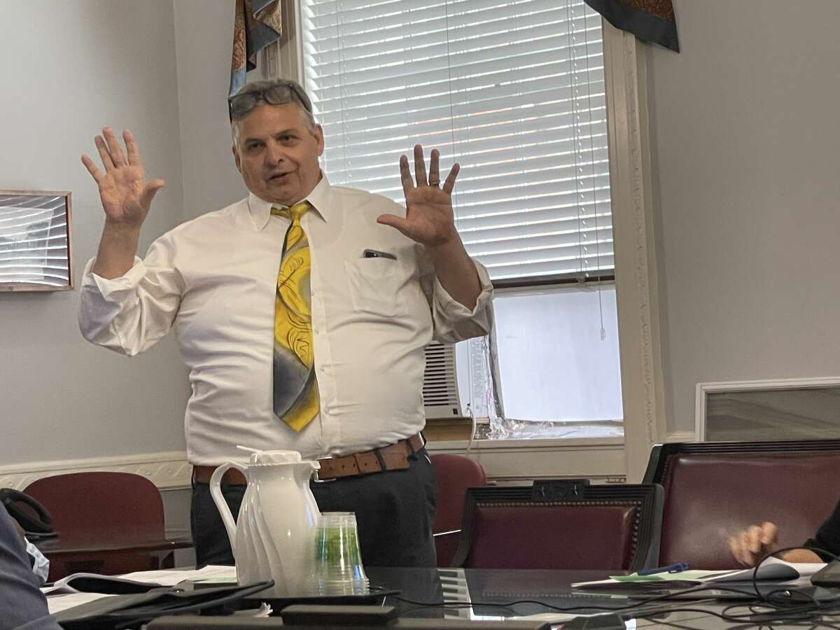 City of Schenectady Finance Commissioner Anthony Ferrari provides an update to City Council's Finance Committee on Tuesday, July 6, 2021 on how the city is planning to use $53 million in federal relief funds.