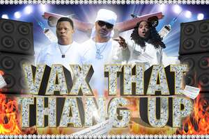"""The music cover for """"Vax That Thang Up."""""""