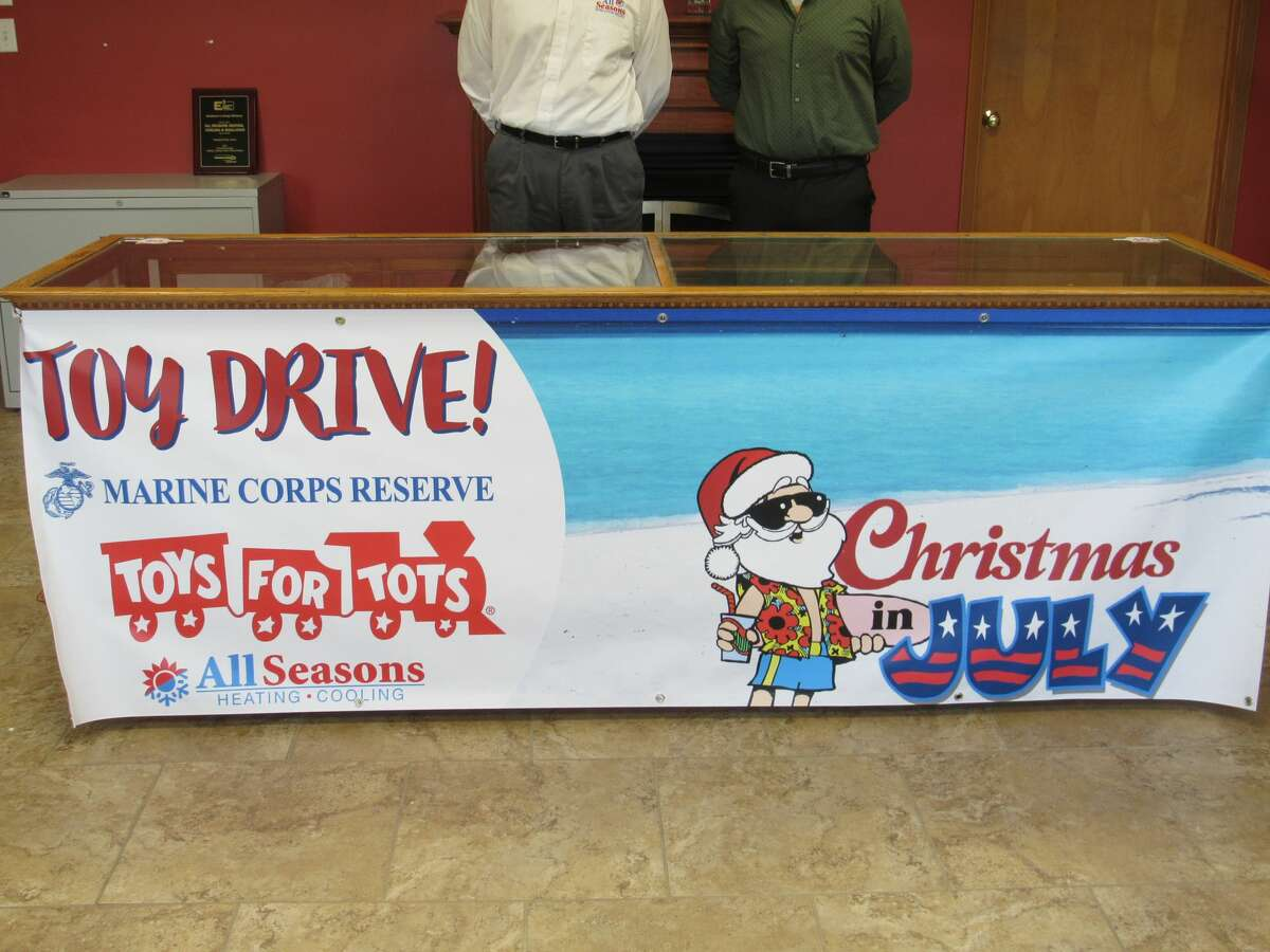 """All Seasons Heating and Cooling will host a """"Christmas in July"""" toy drive on July 17 to benefit the Marine Toys for Tots Program."""