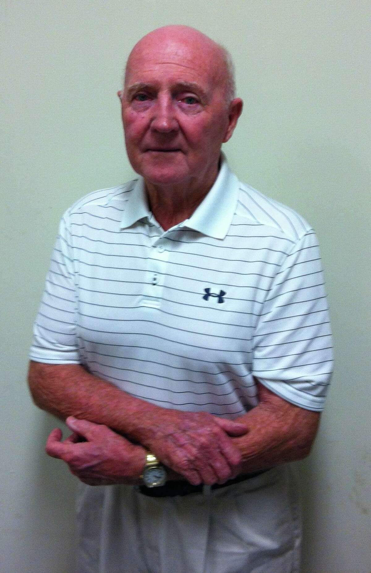 Paul Lane, former Staples High School football coach, seen here in 2012. Lane died in June, 2021 and the Westport RTM has voted to name Staples' football field after him.
