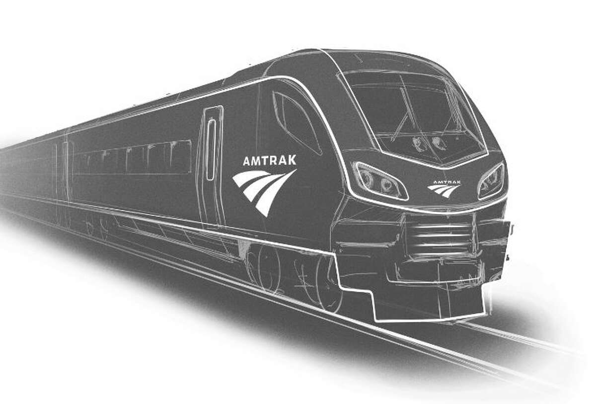 Here's an artist's rendering of what the new Amtrak trains will look like.